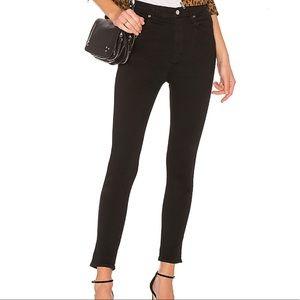 Agolde Jeans - Agolde Roxanne Super High Rise Skinny Black Jeans
